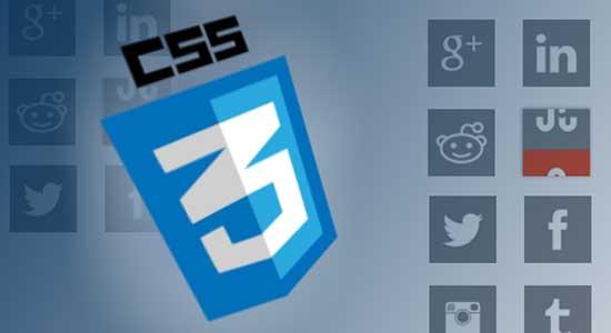 CSS3 Rollover Social Media Icons
