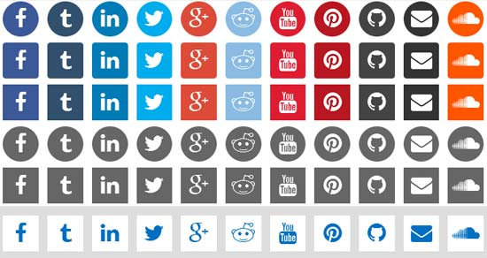CSS3 Social Icons