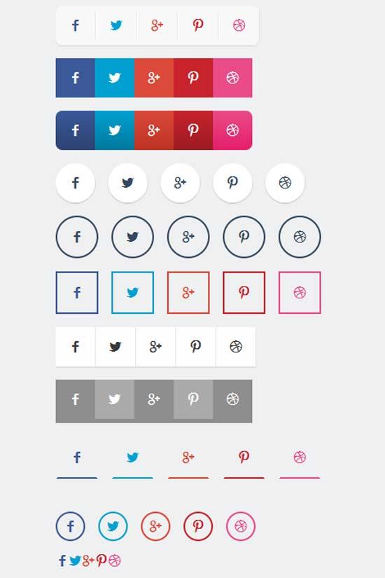 CSS3 Social Share Button