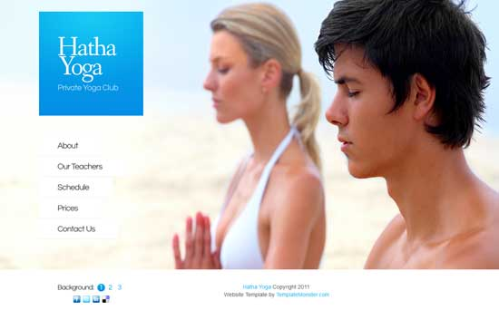 Free Yoga Center Website Template