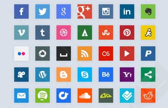 Simple css3 Social Icons