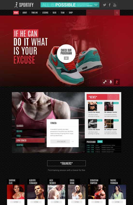 Sportify – Gym HTML Template