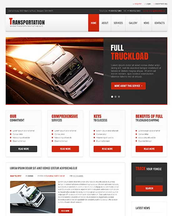 Easy Trans – Transportation Responsive Theme