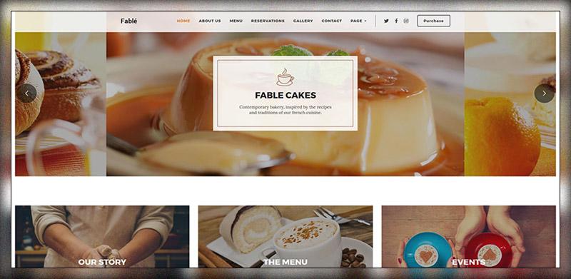 Fable – Restaurant Bakery Cafe Pub WordPress Theme