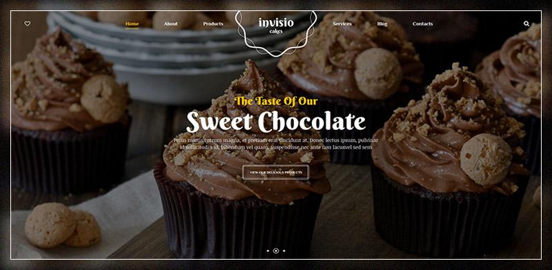 Invisio Cakes – Sweet Bakery WordPress Theme