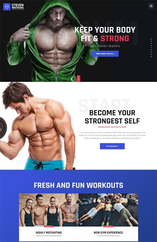 30+ Highly Customizable Fitness and GYM WordPress themes