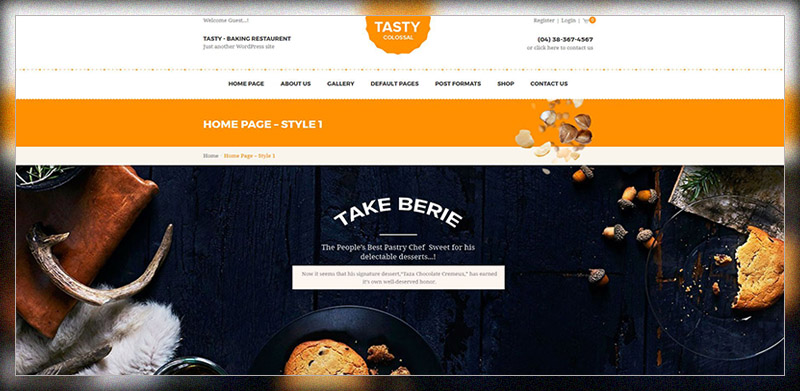 Tasty – WooCommerce Bakery WordPress Theme