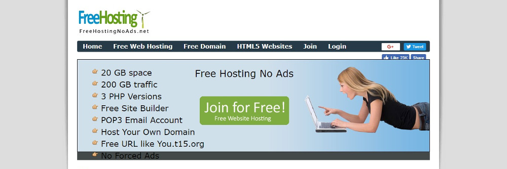 Free Hosting No Ads