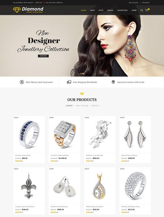Diamond – Jewellery Responsive WooCommerce Theme