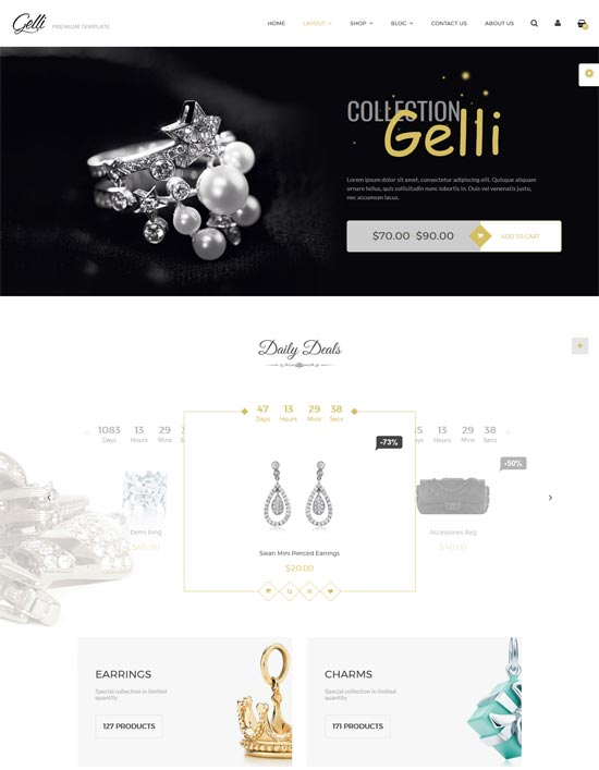 Gelli –  Jewelry and Perfume WooCommerce