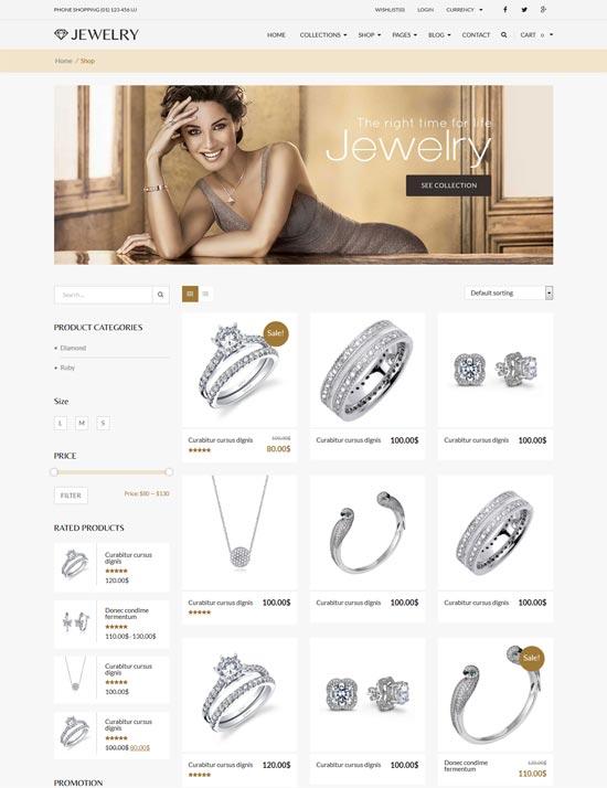 Jewelry Responsive Theme