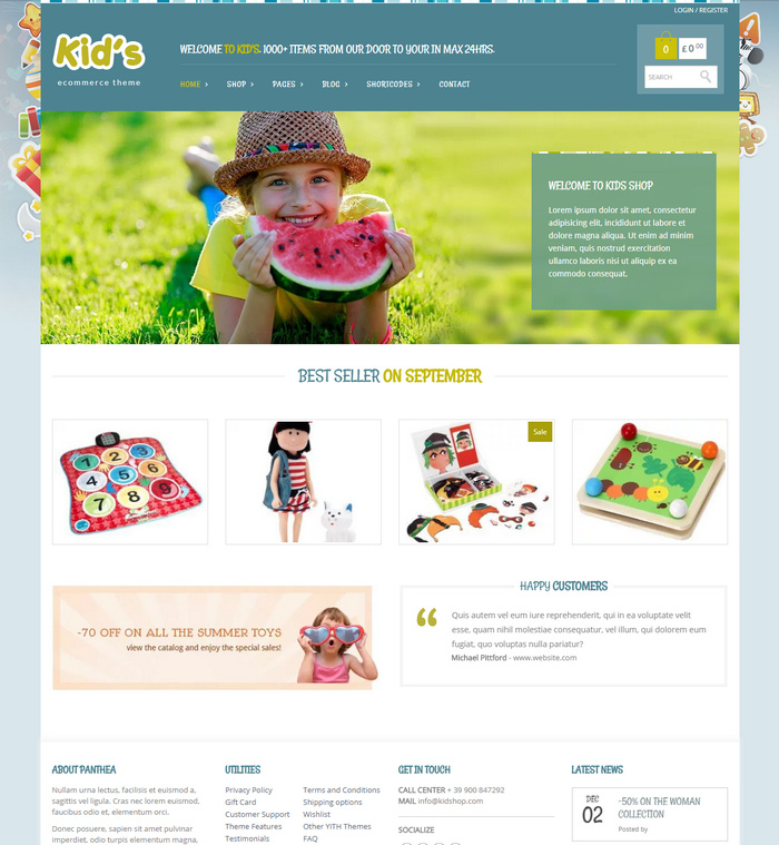 Kidshop – A creative Kids e-commerce theme