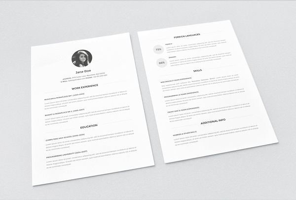 Minimal resume Download