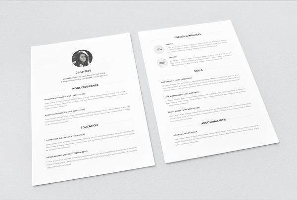 Minimal resume Download