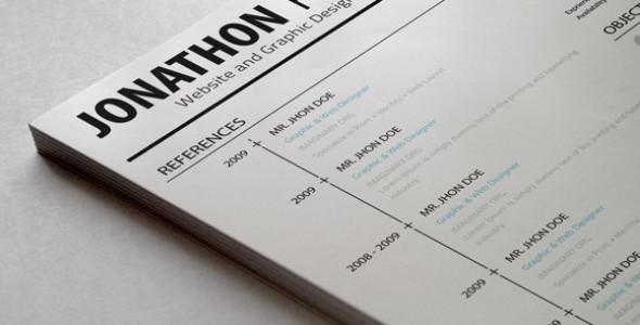 Minimalistic Resume PSD Set
