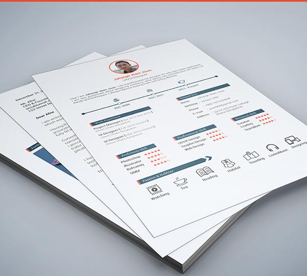 Cover, Resume, Portfolio PSD