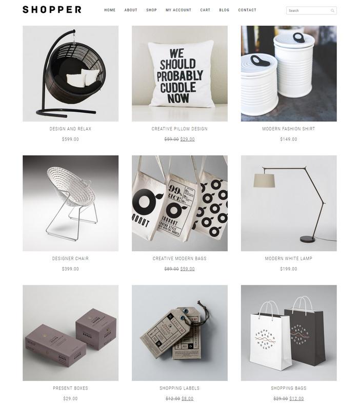 Shopper free eCommerce theme