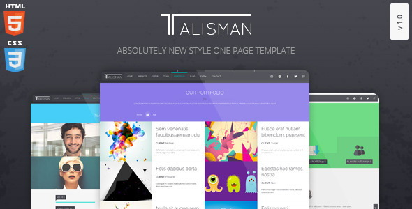 Talisman– One Page Theme