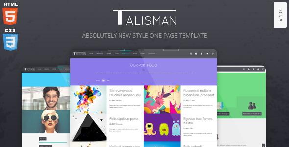Talisman– One Page Theme