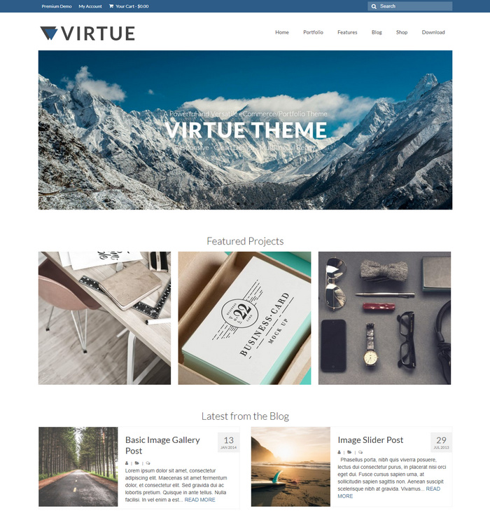 Virtue Free WordPress eCommerce Theme