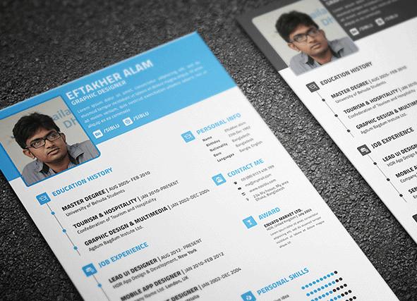Free Resume/CV PSD