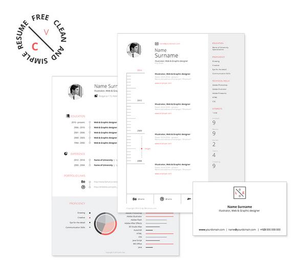 Free Resume / CV pack