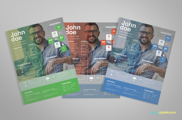 Free Creative Resume Template (PSD)