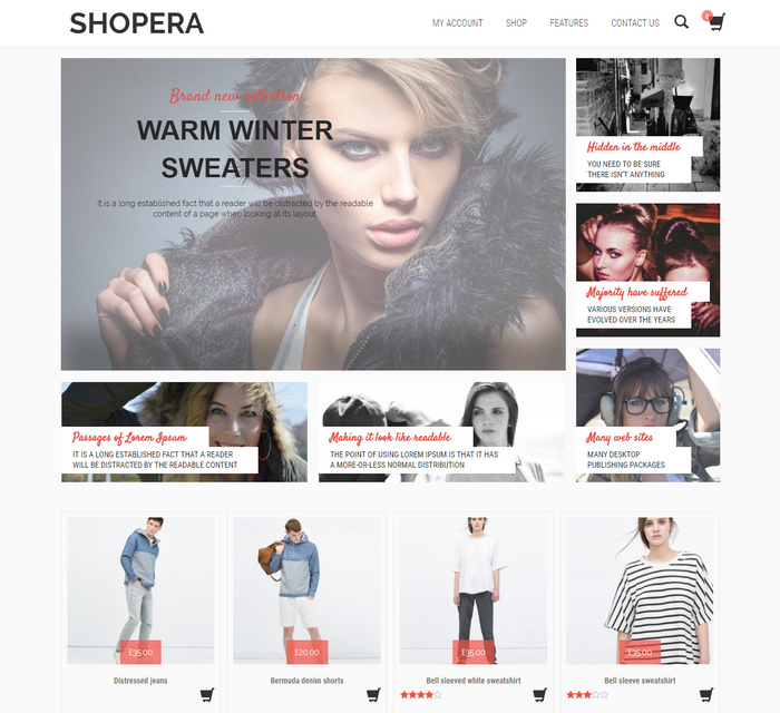 Shopera – Modern Shopping Theme